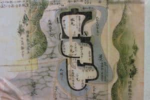 興国寺城の縄張り図