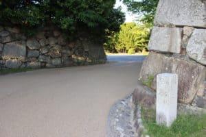 広島城の中御門跡