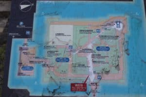 広島城の案内図