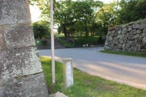 広島城の裏御門跡