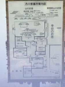 吉川家墓所の配列