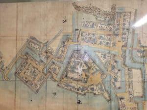 三原城の縄張り図