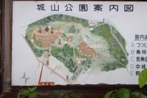 磯部城の地図