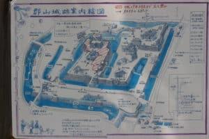 大和郡山城の縄張り図