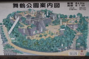 唐津城の案内図
