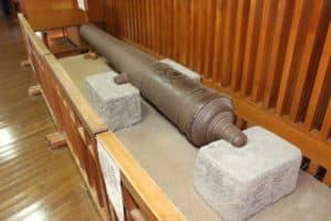唐津城の大砲