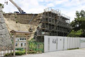 唐津城の石垣工事