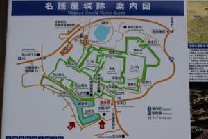 名護屋城の案内図