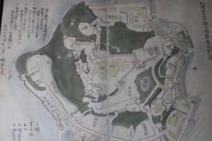 平戸城の縄張り図