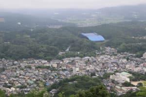 岩屋城からの展望