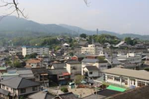臼杵城からの展望