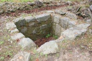 岡城の井戸跡