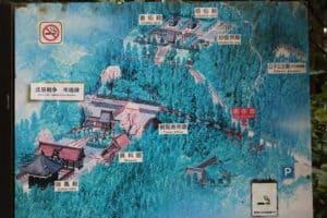 瑞鳳殿の案内地図