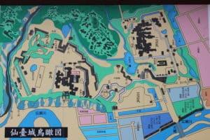 仙台城の案内地図