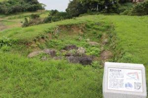 原城の破却された石垣