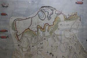 原城の縄張り図