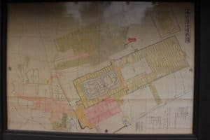 島原城の城下町の地図