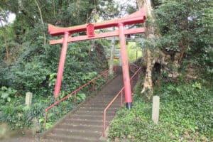 神代城(鶴亀城)の本丸への入口