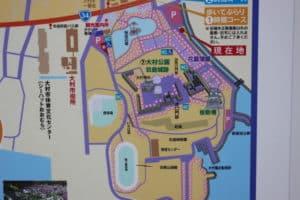 玖島城の案内図