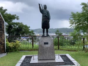 天草四郎の銅像(本渡)