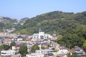 東福寺城から望む清水城