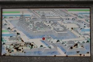 八代城の案内図