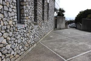 浦戸城の石垣入口