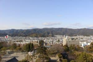 高知城の天守からの展望