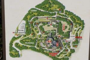 高知城のマップ