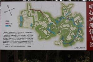 美濃・明知城の案内図