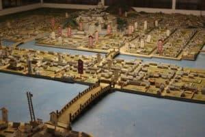 松江城と城下町