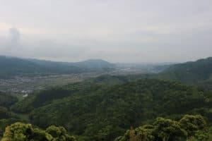 月山富田城からの展望